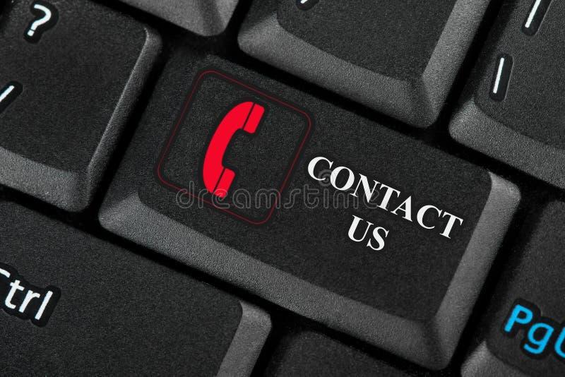 Keyboard. Closeup key Contact Us. Keyboard. Closeup black assistance key Contact Us stock photos