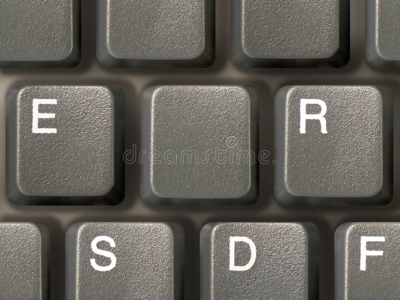 Keyboard (closeup) with one clean key royalty free stock photo