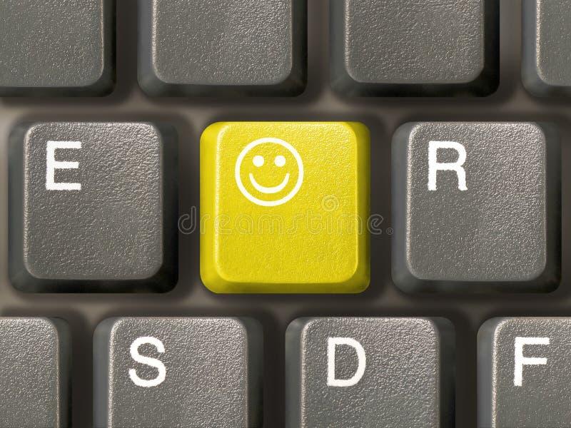Keyboard (closeup) with Smile key. (yellow royalty free stock photos