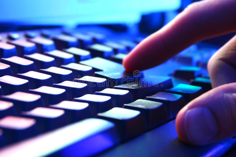 Keyboard closeup view. On home royalty free stock photo