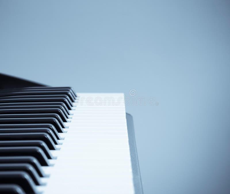 Keyboard cool tone stock photography