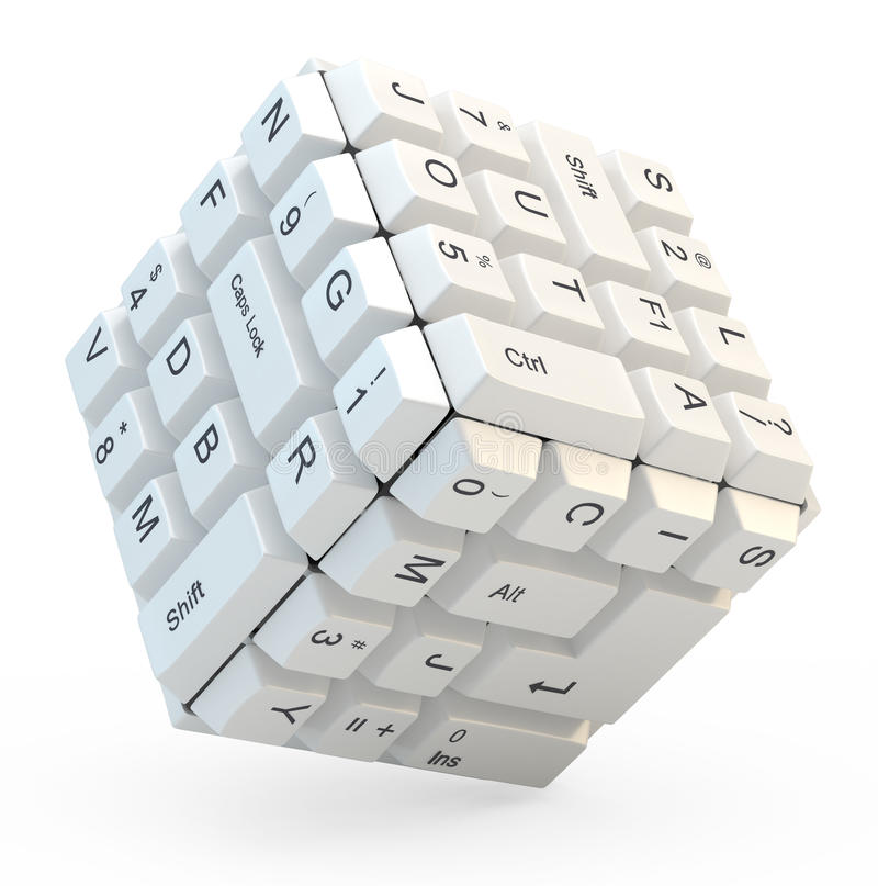 Download Keyboard cube stock illustration. Image of indoor, breakdown - 27846219