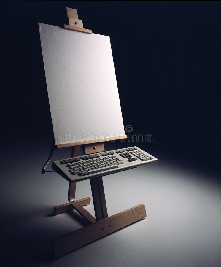 Keyboard and Easel royalty free stock photos