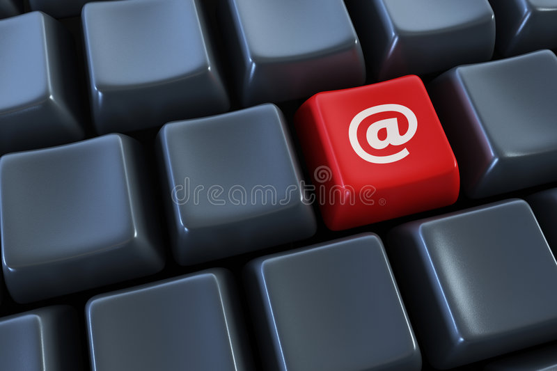 Keyboard with email button royalty free stock photos