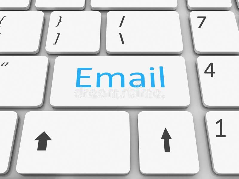 Download Keyboard email  key stock illustration. Illustration of enter - 33425437