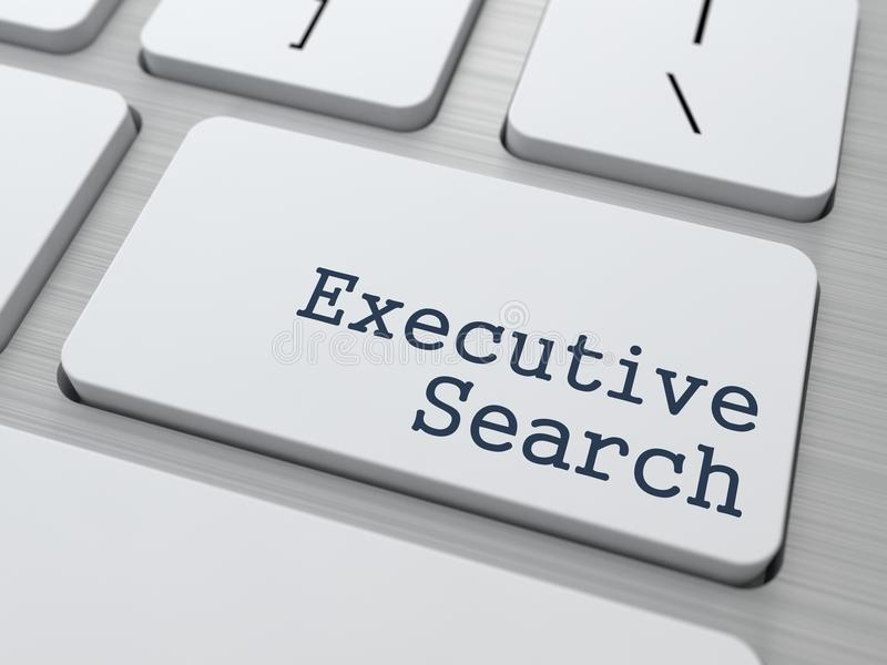 Keyboard with Executive Search Button. vector illustration