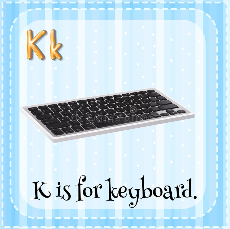 Keyboard stock illustration