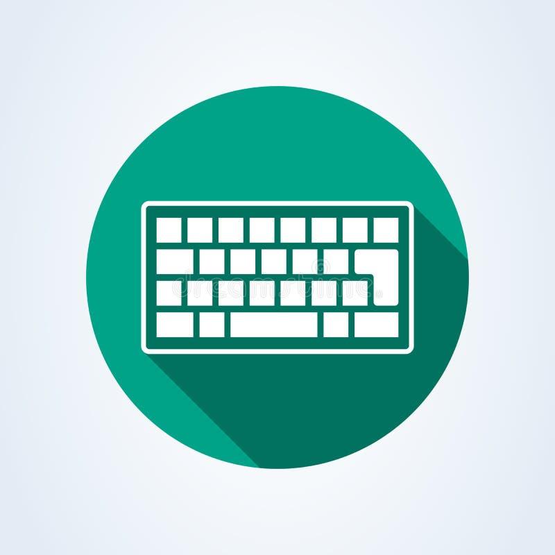Keyboard flat style. Vector illustration icon isolated on white background royalty free illustration