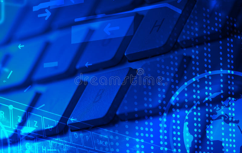 Download Keyboard With Glowing Icons Stock Illustration - Illustration of internet, laptop: 34361624