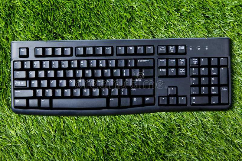 Download Keyboard on grass stock photo. Image of lawn, mobility - 24207560