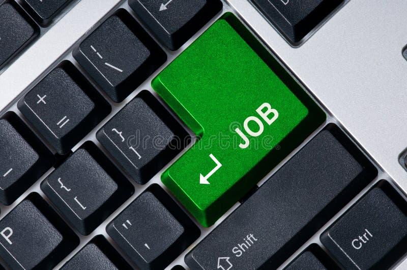 Download Keyboard With Green Key Job Stock Image - Image: 6868253