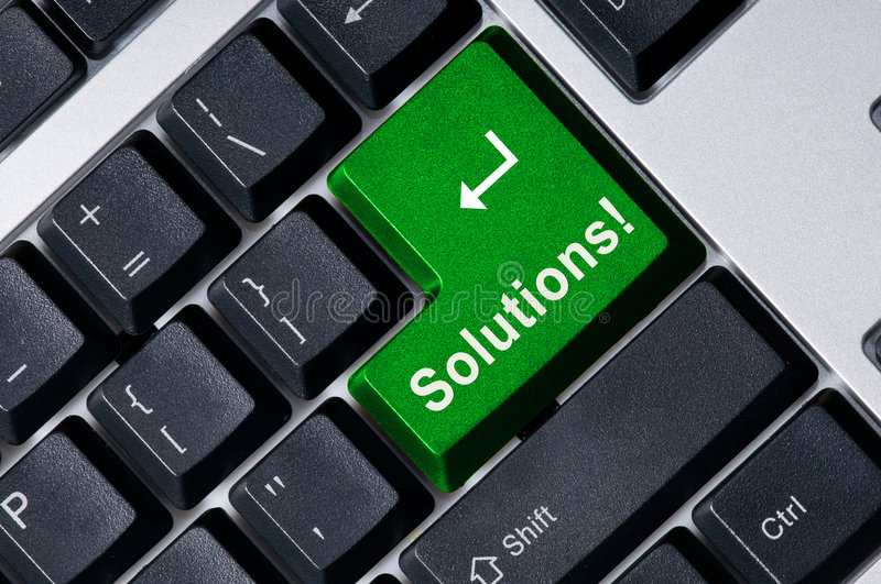 Download Keyboard With Green Key Solution Stock Image - Image: 6618005