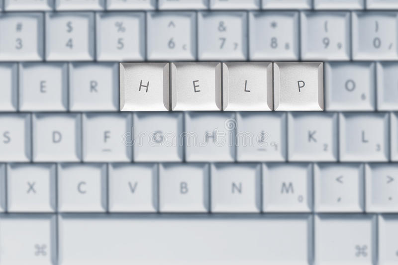 Download Keyboard - Help stock photo. Image of design, type, call - 21030150