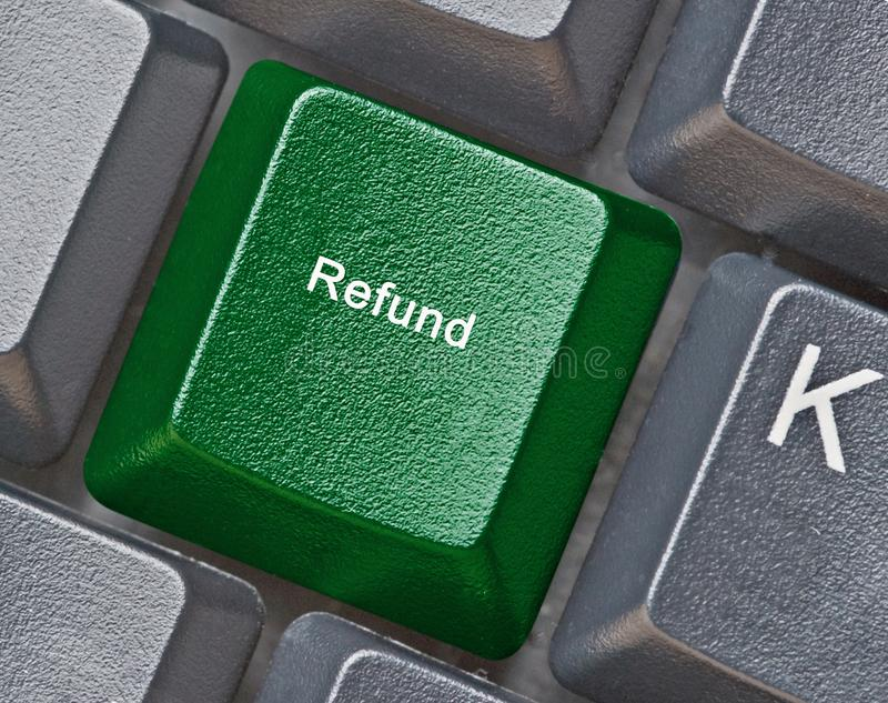 Hot key for refund. Keyboard with hot key for refund royalty free stock image