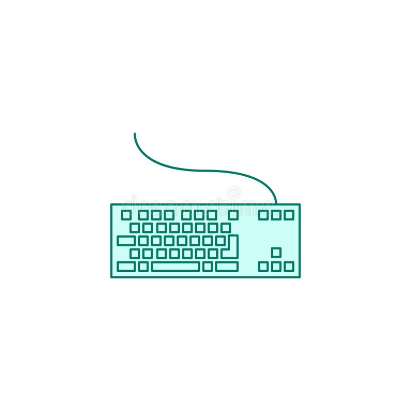 Keyboard icon filled outline or line style vector illustration vector illustration