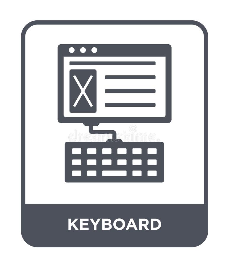 keyboard icon in trendy design style. keyboard icon isolated on white background. keyboard vector icon simple and modern flat vector illustration