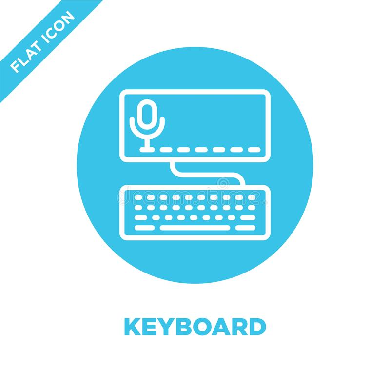 keyboard icon vector from accessibility collection. Thin line keyboard outline icon vector  illustration. Linear symbol for use on royalty free illustration