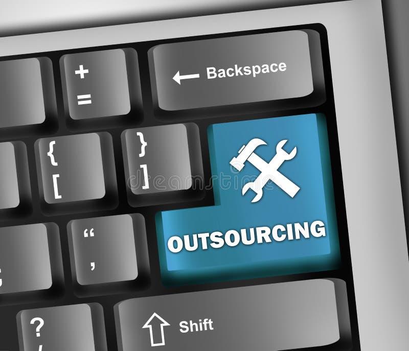 Keyboard Illustration Outsourcing vector illustration