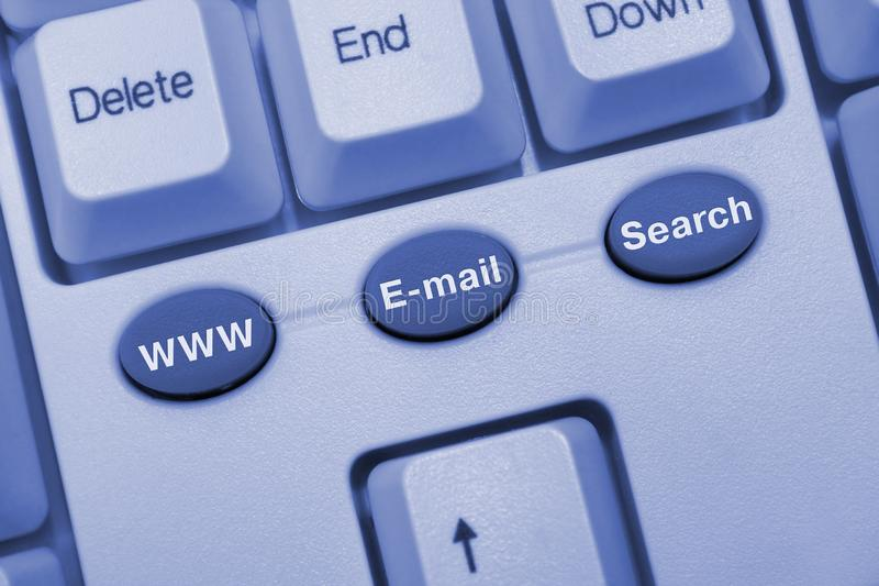 Keyboard with internet keys stock images