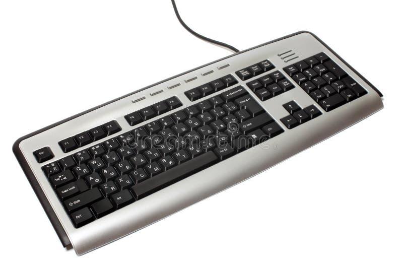 Computer PC keyboard isolated technology equipment white desktop device input button keypad object communication key modern symbol royalty free stock photography