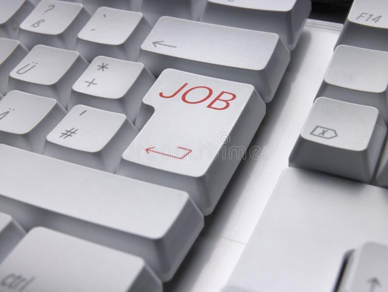 Keyboard JOB. Computer keyboard with JOB enter key