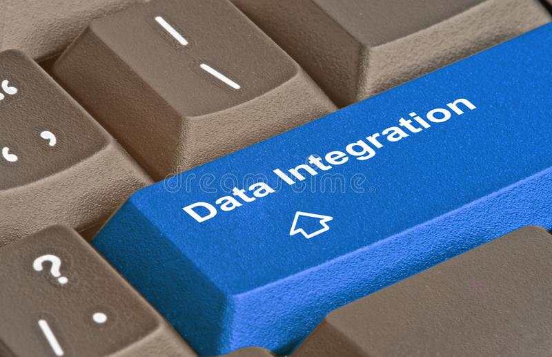 Key for data integration royalty free stock photo