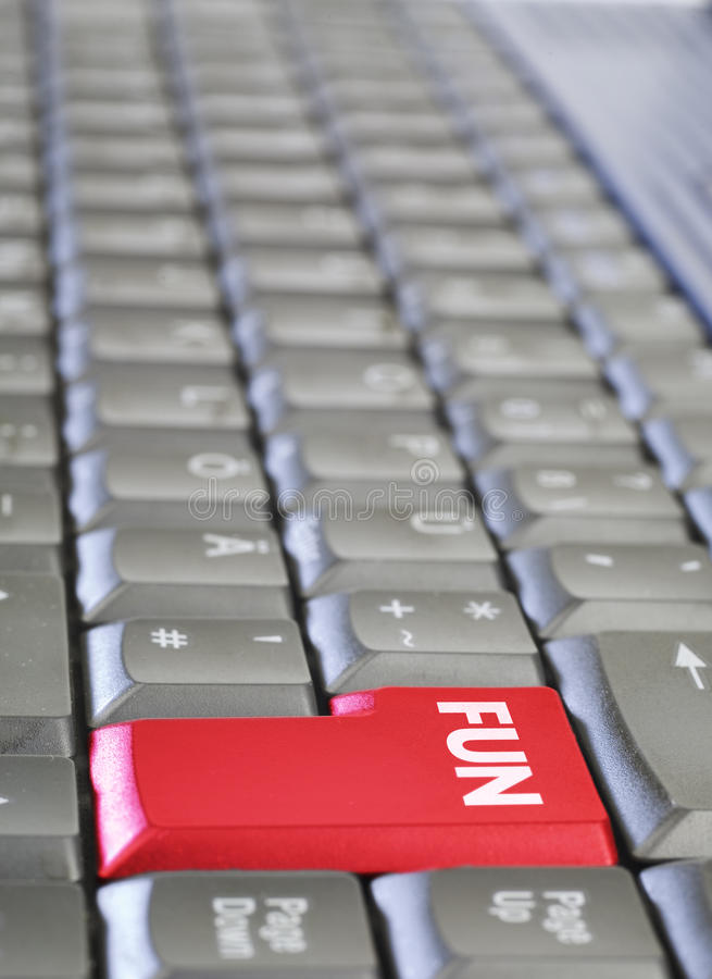 Keyboard with key FUN. stock images