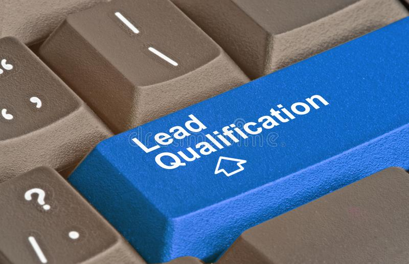 Key for Lead Qualification. Keyboard with key for Lead Qualification royalty free stock photo