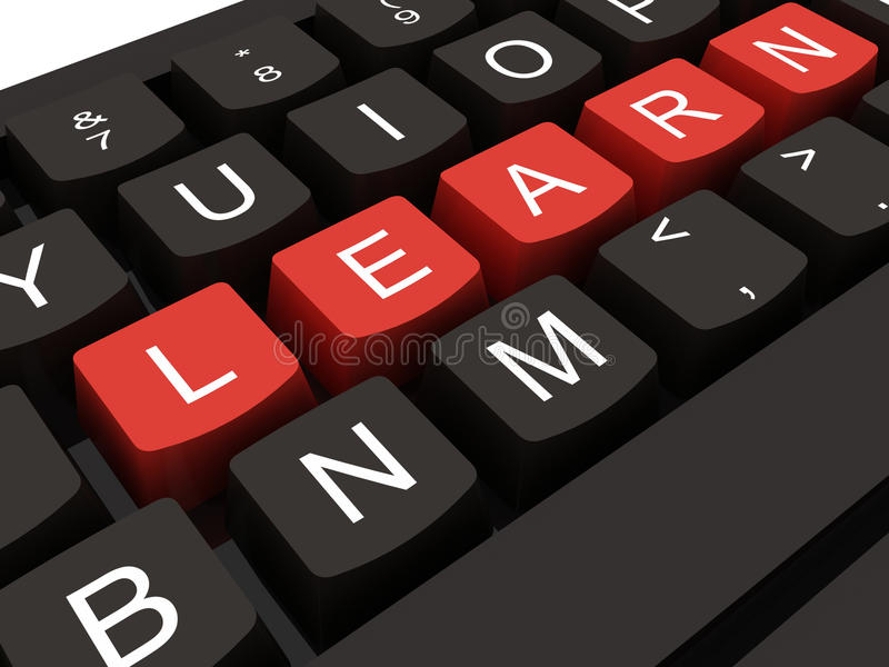 Keyboard With Key Learn Royalty Free Stock Image