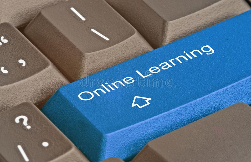 Key for online learning stock photo