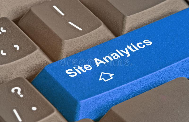 Keyboard for site analytics stock image