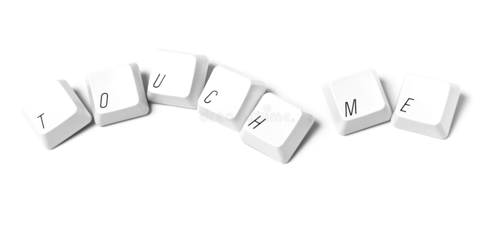 Download Keyboard Keys Writing Touch Me Stock Photo - Image: 15442168