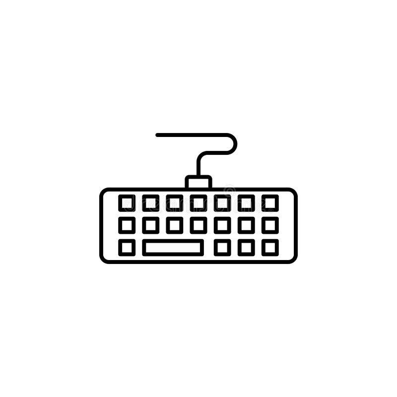Keyboard Line Icon, Keyboard icon. Keyboard Line Icon On White Background, Keyboard icon vector illustration