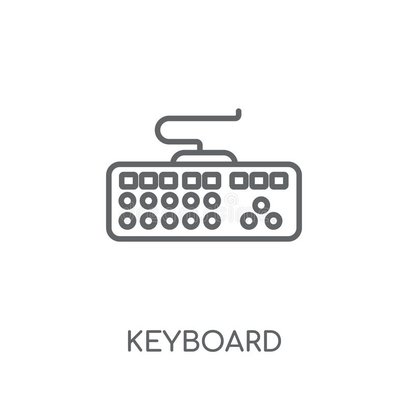 Keyboard linear icon. Modern outline Keyboard logo concept on wh stock illustration