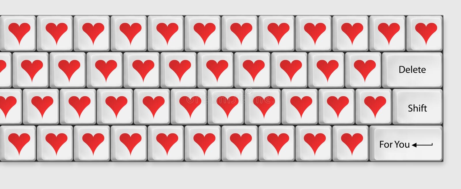 Download Keyboard for lovers stock photo. Image of multimedia - 34542652