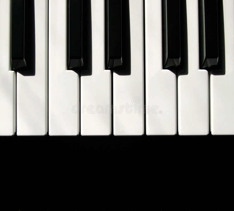 Keyboard MIDI Keys. A small series of keyboard keys from a MIDI player royalty free stock photography