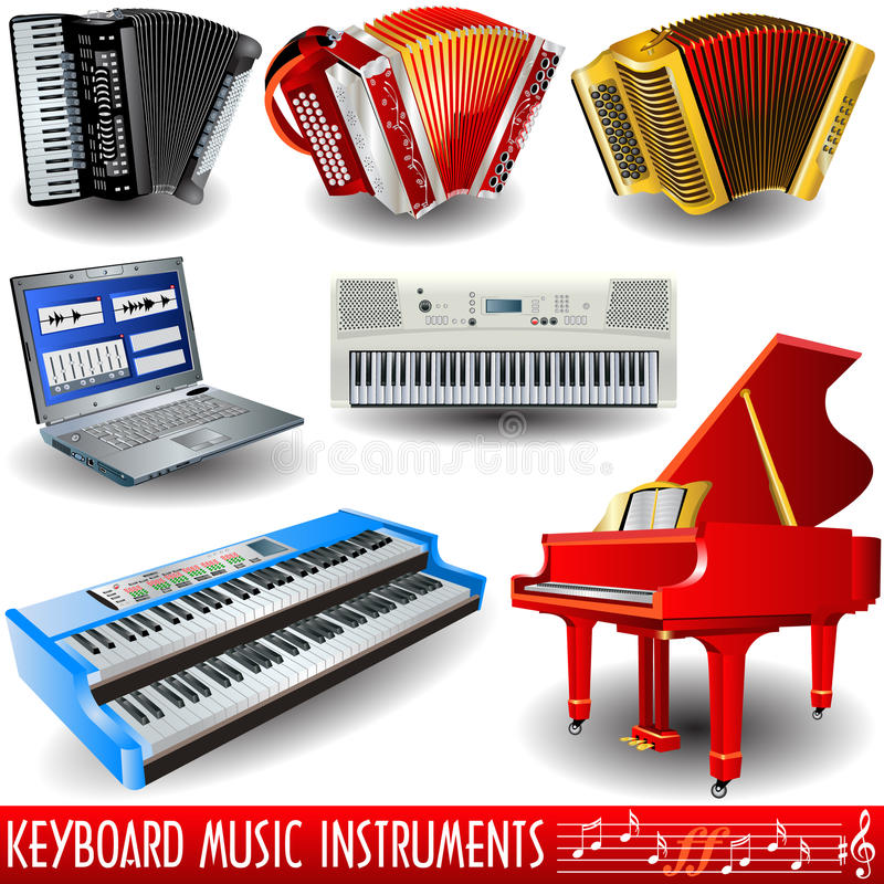 Free Keyboard Music Instruments Royalty Free Stock Images - 13596929