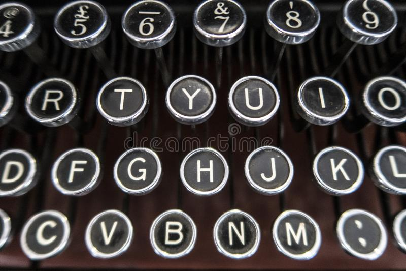 Keyboard In An Old Typewriter Stock Image Image Of Keyboard