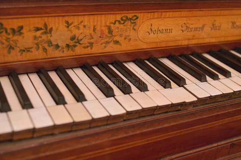 Keyboard of old piano royalty free stock images