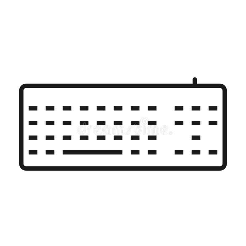 Keyboard outline icon royalty free illustration