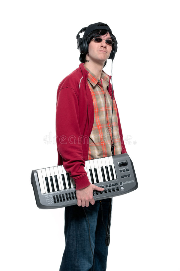 Download Keyboard player stock image. Image of headphones, young - 7042393