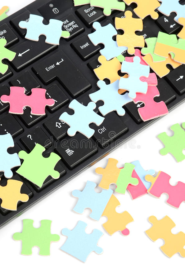 Download Keyboard and puzzle stock image. Image of inspiration - 25148645