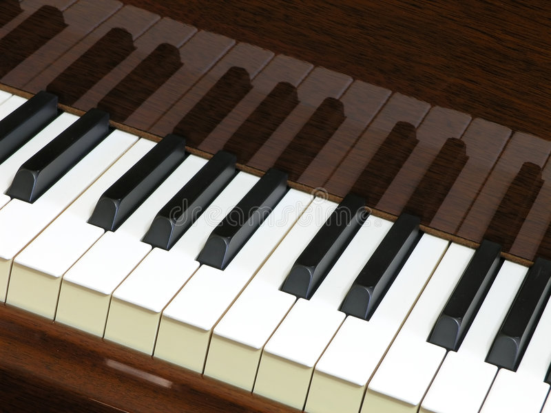 Download Keyboard Reflections stock photo. Image of piano, instrument - 535904
