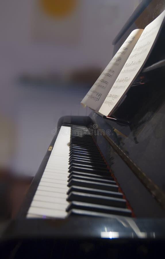 Keyboard and score royalty free stock photo