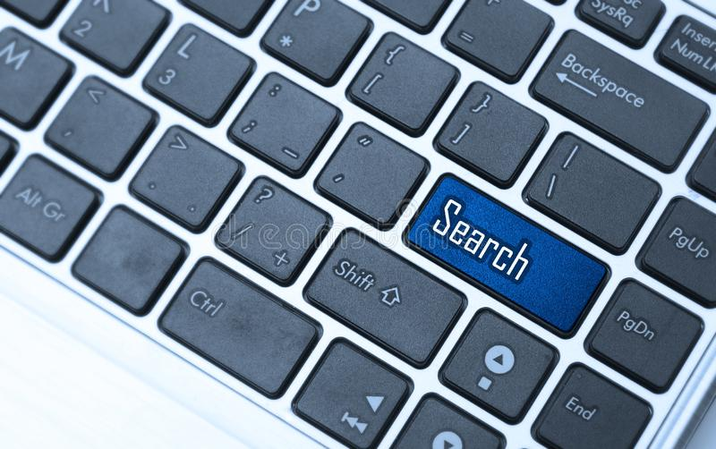Keyboard with search key royalty free stock photography