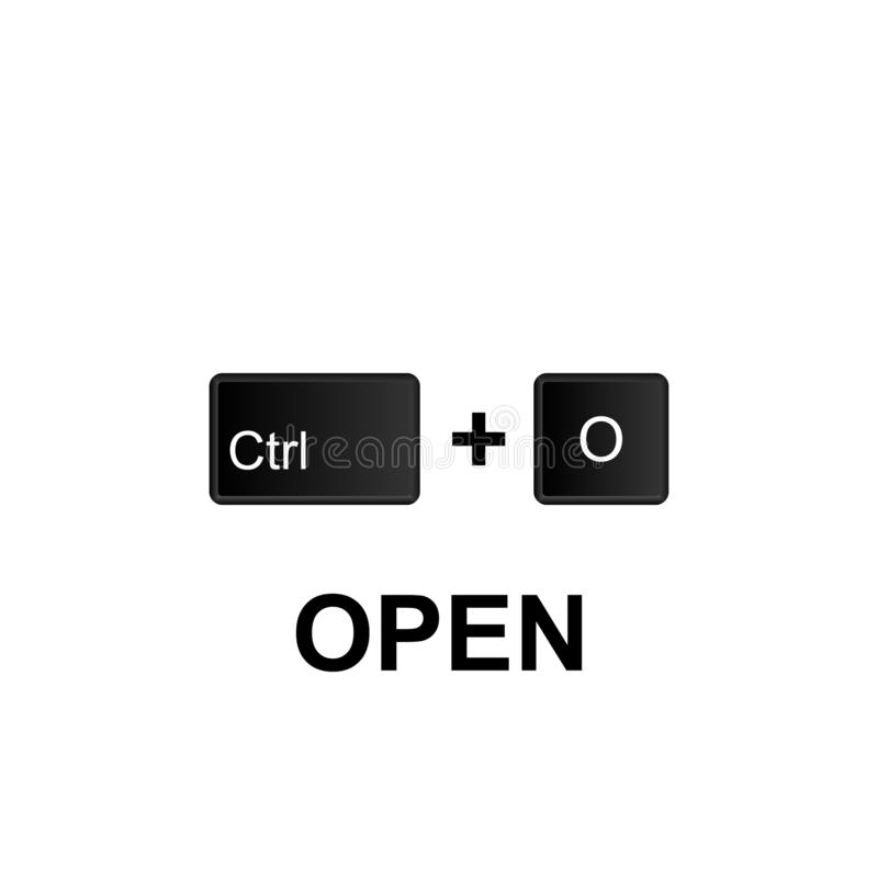 Keyboard shortcuts, open icon. Can be used for web, logo, mobile app, UI, UX. On white background vector illustration