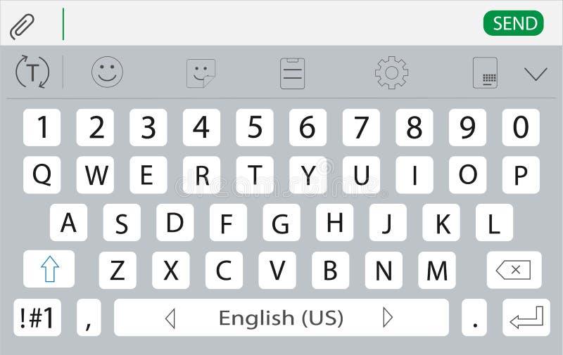 Keyboard for smartphone. Keyboard design royalty free illustration
