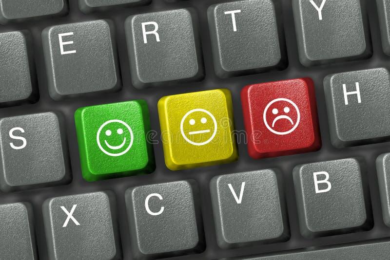 Keyboard With Smiley Keys Stock Photos