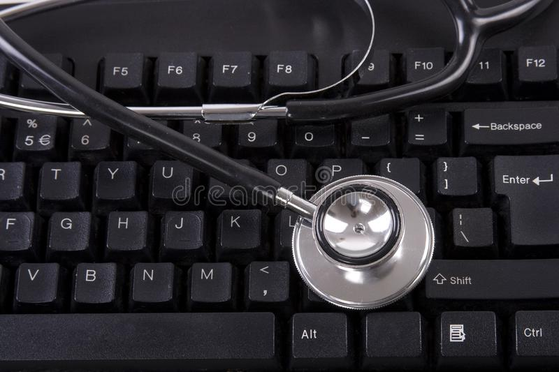 Download Keyboard and Stethoscope stock image. Image of keyboard - 9930555