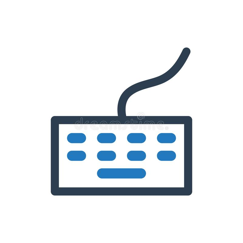 Keyboard Vector Icon. Simple Illustration Of A Keyboard Icon royalty free illustration